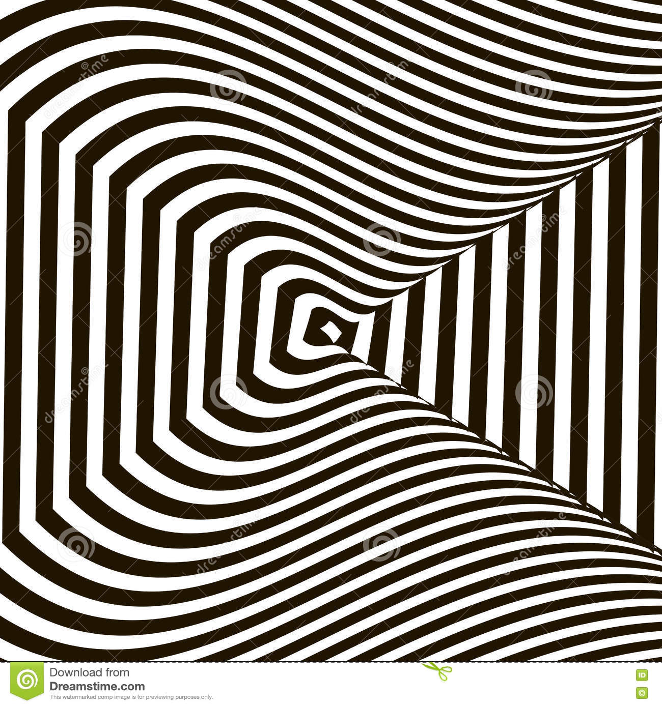 Wavy crossed stripes optical illusion black and white for Animated optical illusions template