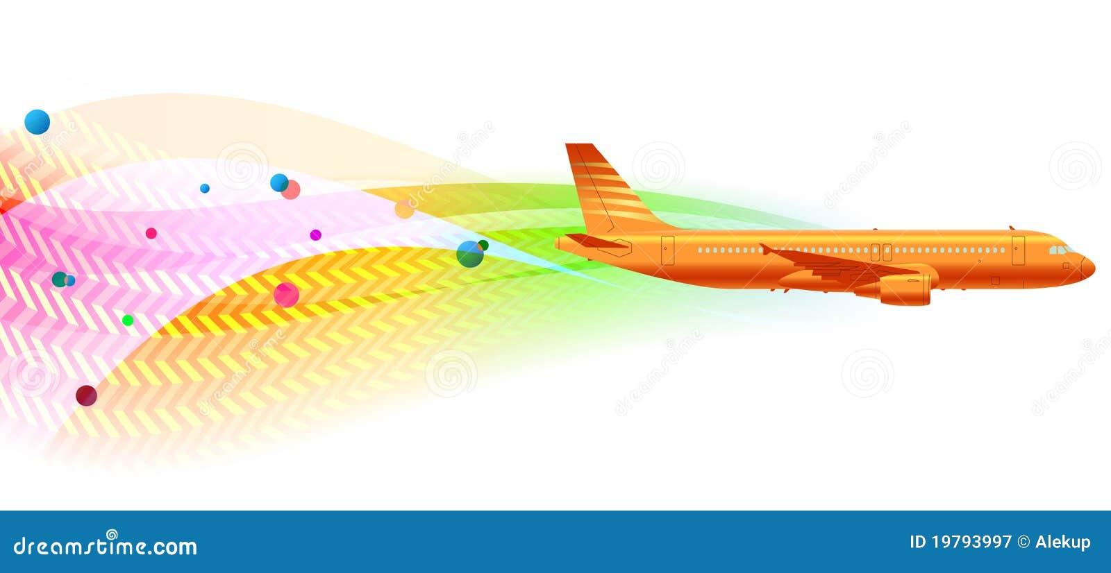 Wavy flygplanbakgrund