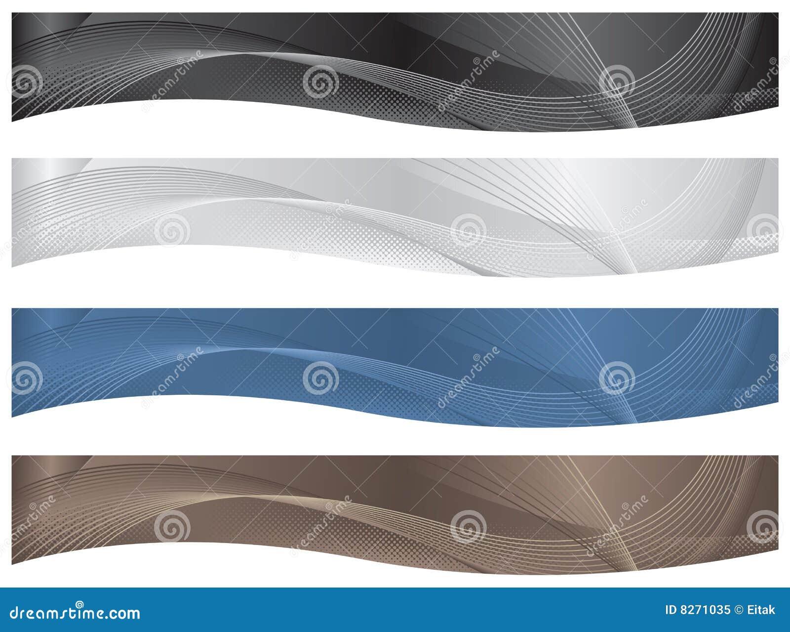 Wavy Headers/Banners - Neutrals