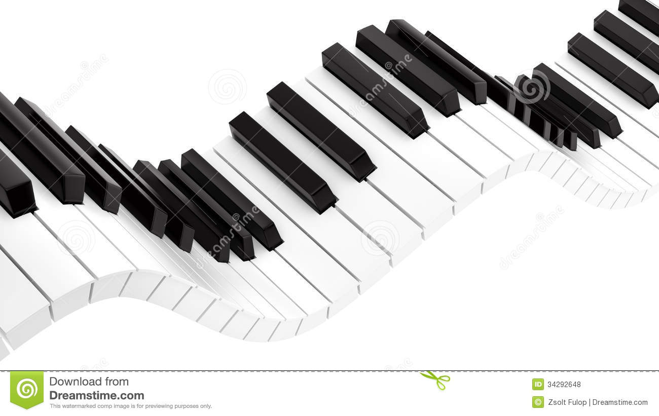 wavy piano keyboard stock illustration illustration of jazz 34292648. Black Bedroom Furniture Sets. Home Design Ideas