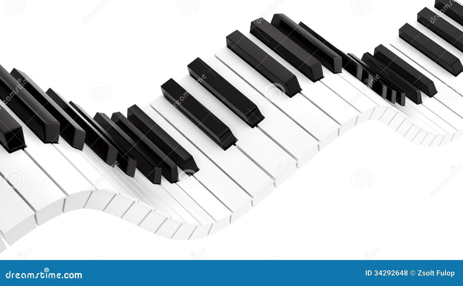 Wavy Piano Keyboard Royalty Free Stock Photos Image 34292648