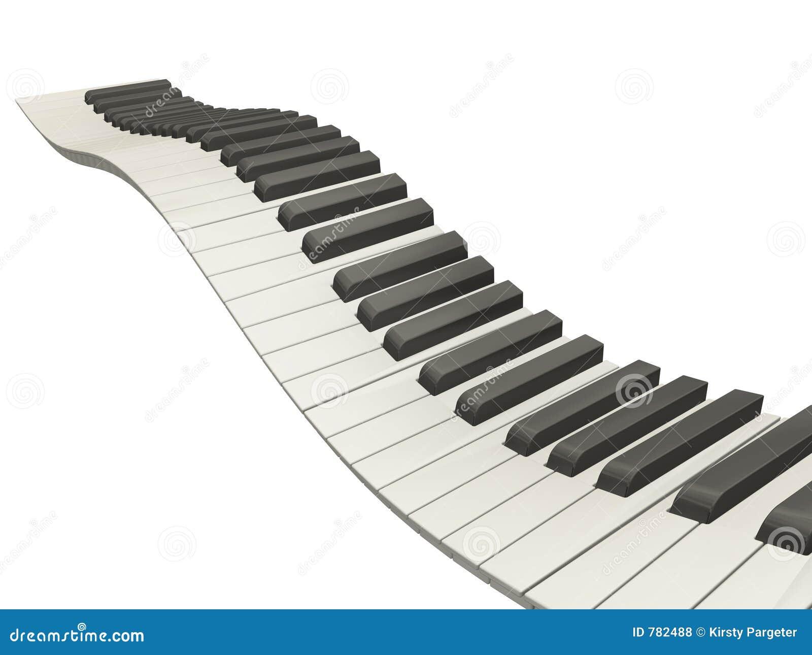 Wavy piano keys stock illustration illustration of for Disegno di piano domestico