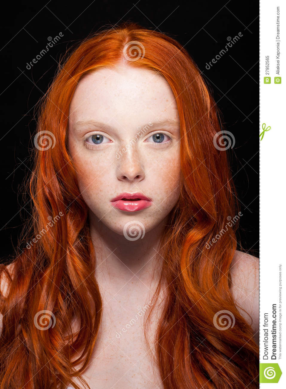 Wavy Red Hair Stock Image Image Of Girl Closeup