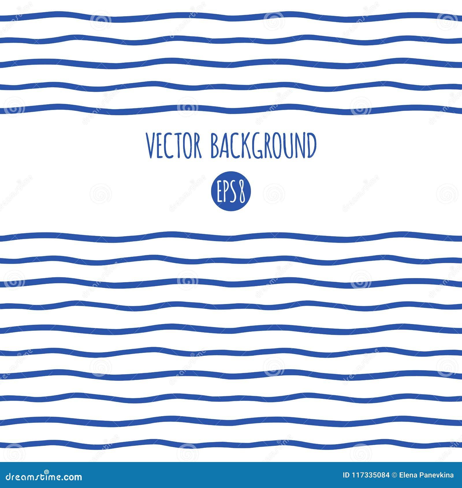wavy sailor stripes marine waves border or frame stock vector