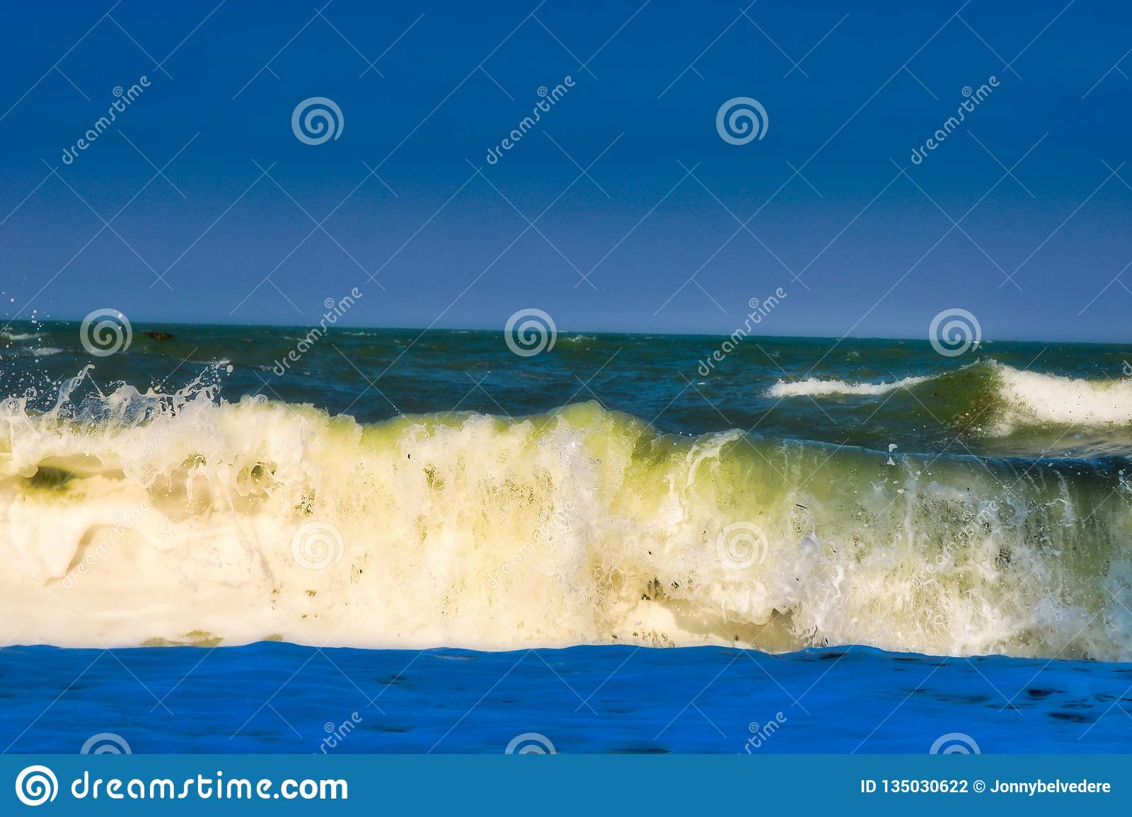 The wavy sea in Hua Hin Thailand