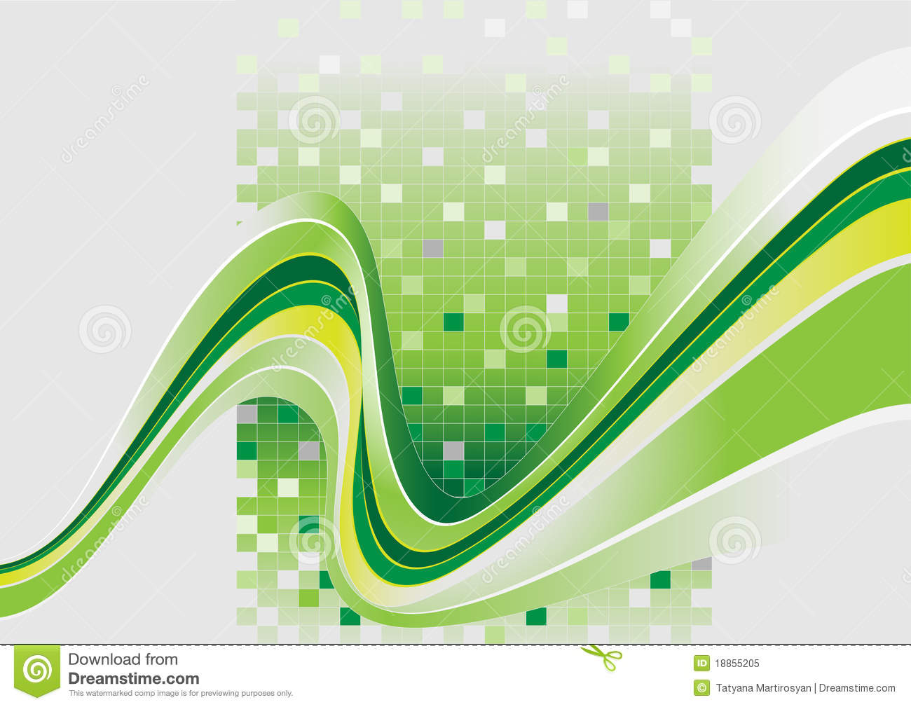 wavy stripes with a green tintbannerbackground stock
