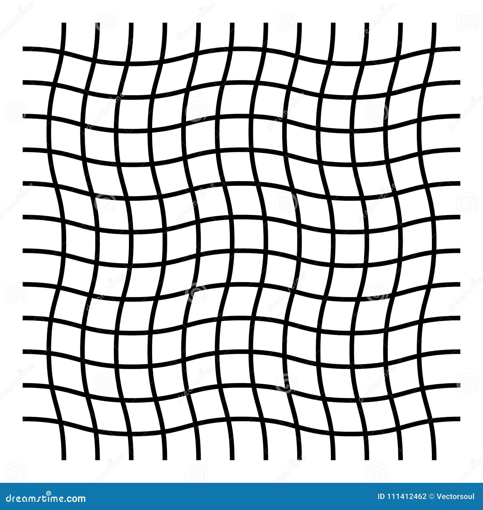 Wavy, Zig Zag, Criss Cross Grid Pattern Stock Vector - Illustration
