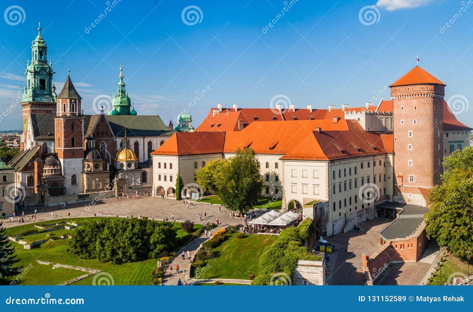 Wawel castle in Krakow, Pola