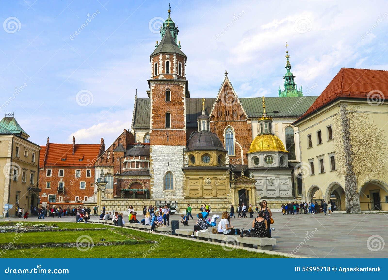 Wawel för slottkrakow poland kunglig person
