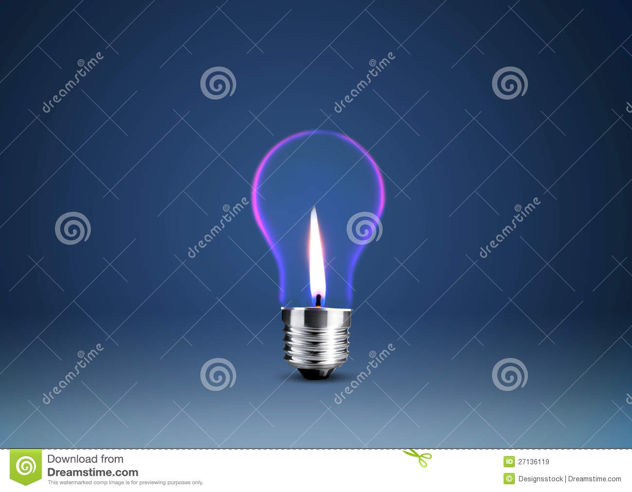 Wax candle into lighting bulb royalty free stock images for Into lighting