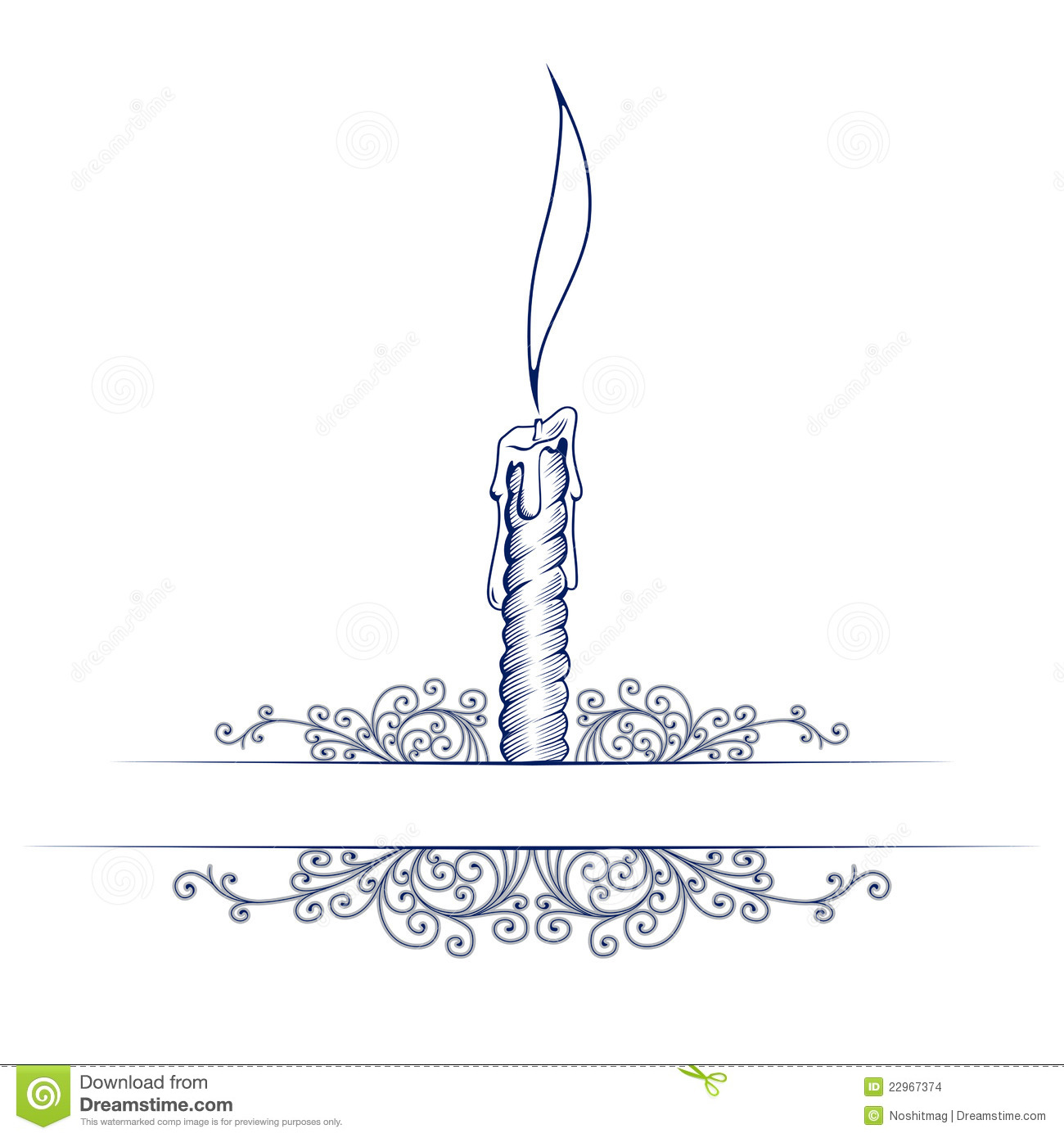 Christmas Candle Template Wax candle note template with