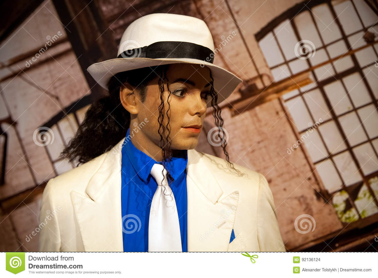 91d2918f793131 Amsterdam, Netherlands - March, 2017: Wax figure of Michael Jackson in  Madame Tussauds Wax museum in Amsterdam, Netherlands