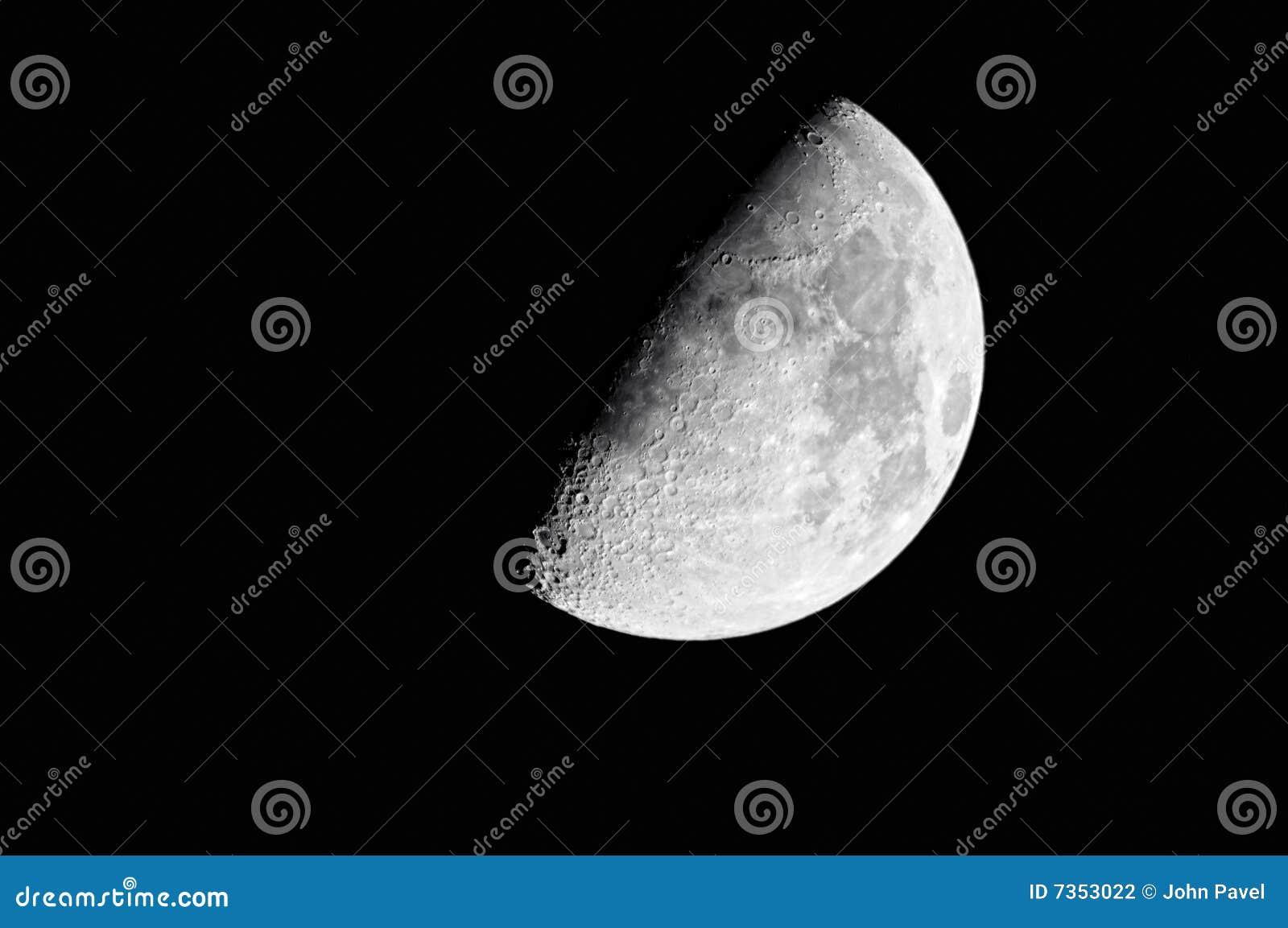 Stock Photography  Waxing Gibbous Moon  60  Waxing Gibbous Moon Clipart