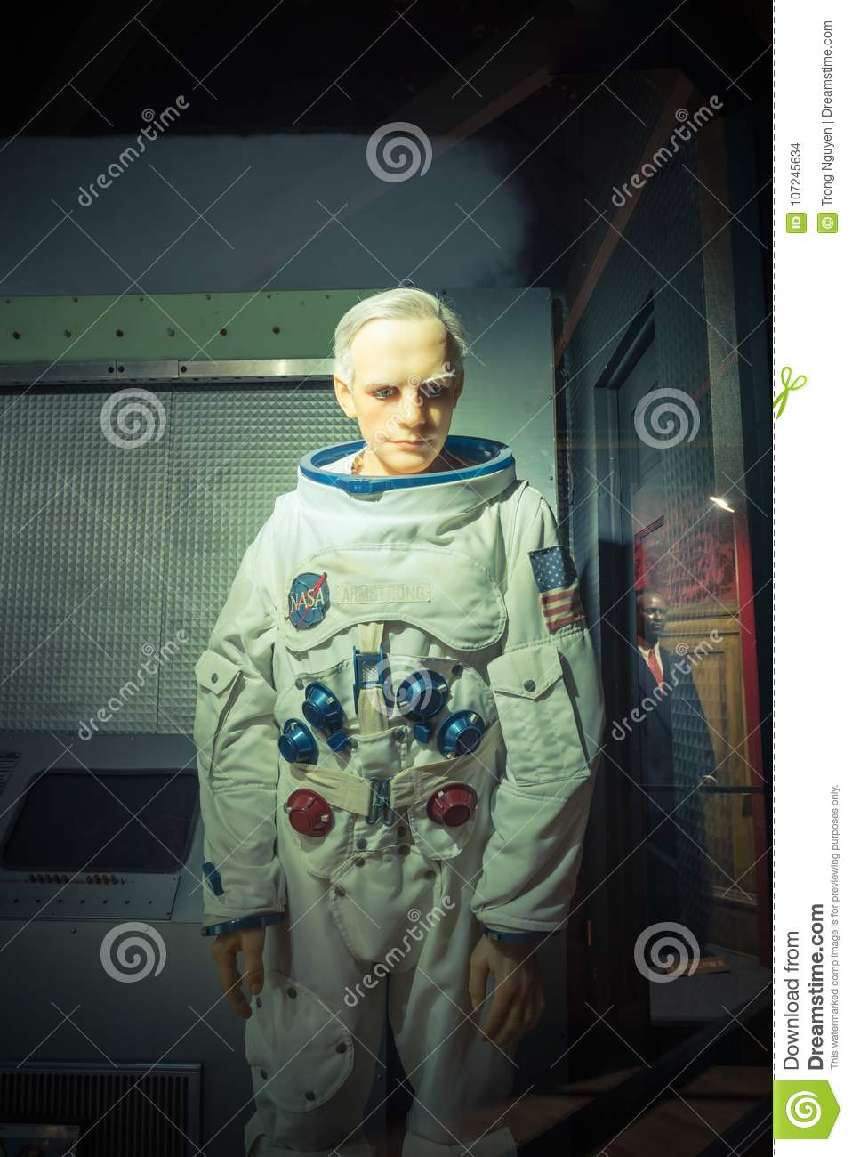 A waxwork of Neil Alden Armstrong display at Josephine Tussaud