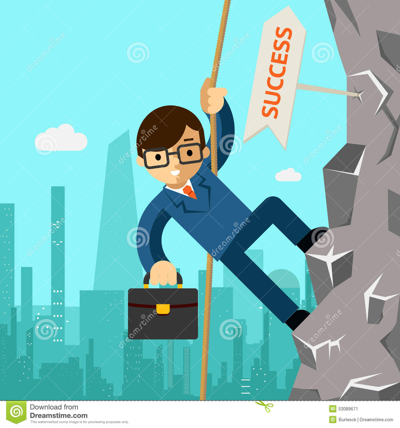Follow Your Dreams Clipart Businessman Aspires To...