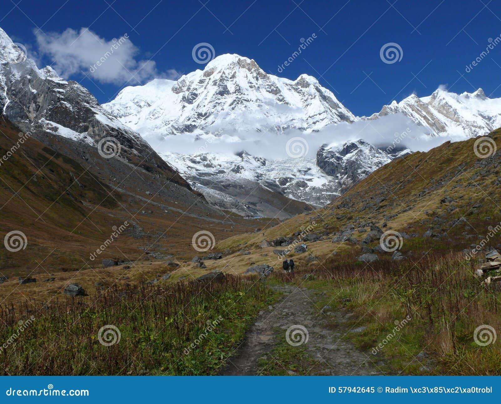 Download Way to Annapurna Base Camp stock image. Image of annapurna - 57942645