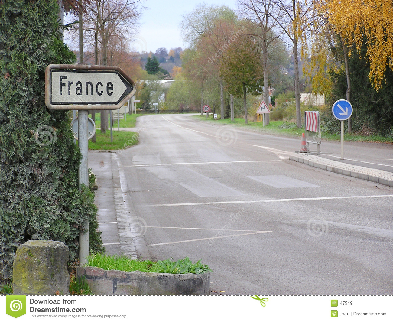 Download Way to France stock image. Image of france, sign, road, show - 47549