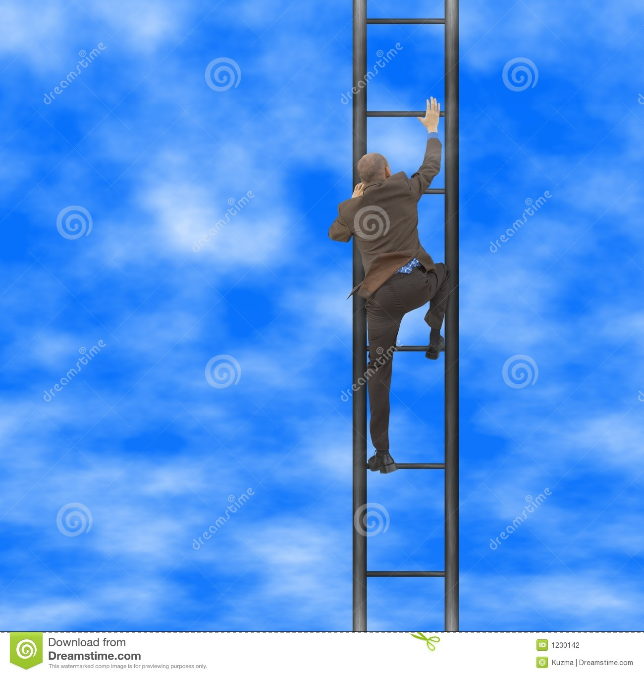 Way To The Top Stock Photo. Image Of Symbolical, Numerical