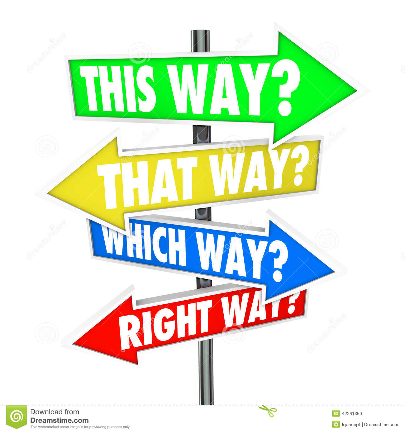 This way that which is right path choice arrow signs for Right time images
