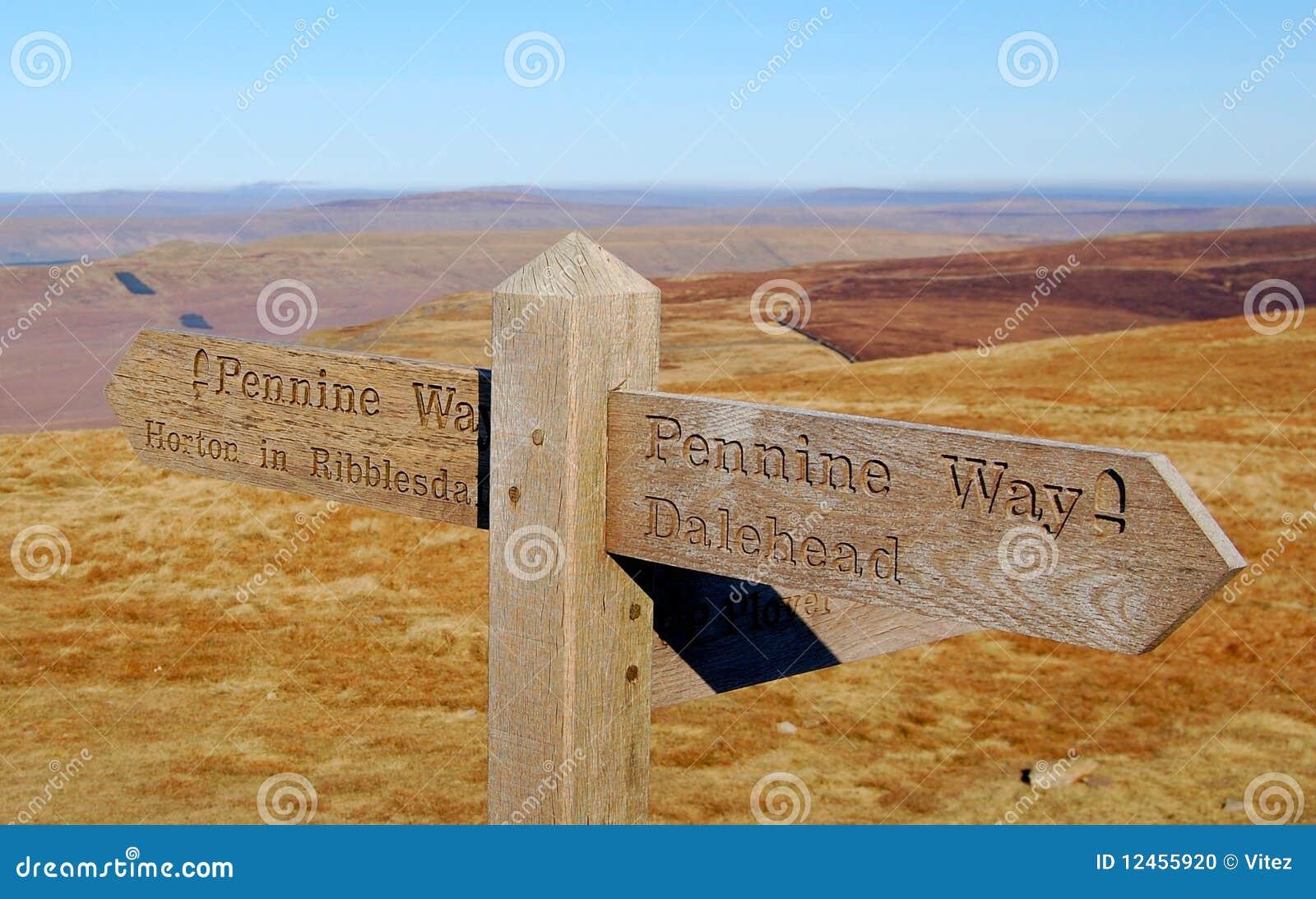 Waymark de voie de penninite