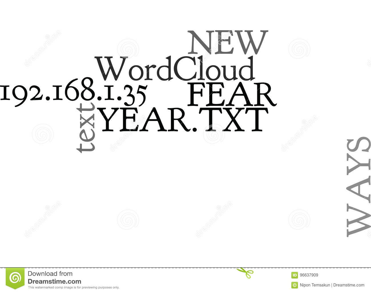 Ways To Say No To Fear This New Yearword Cloud
