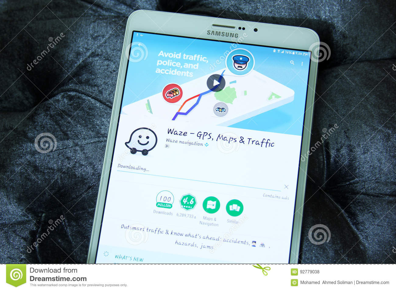 Waze GPS, Maps And Traffic App Editorial Stock Photo - Image of