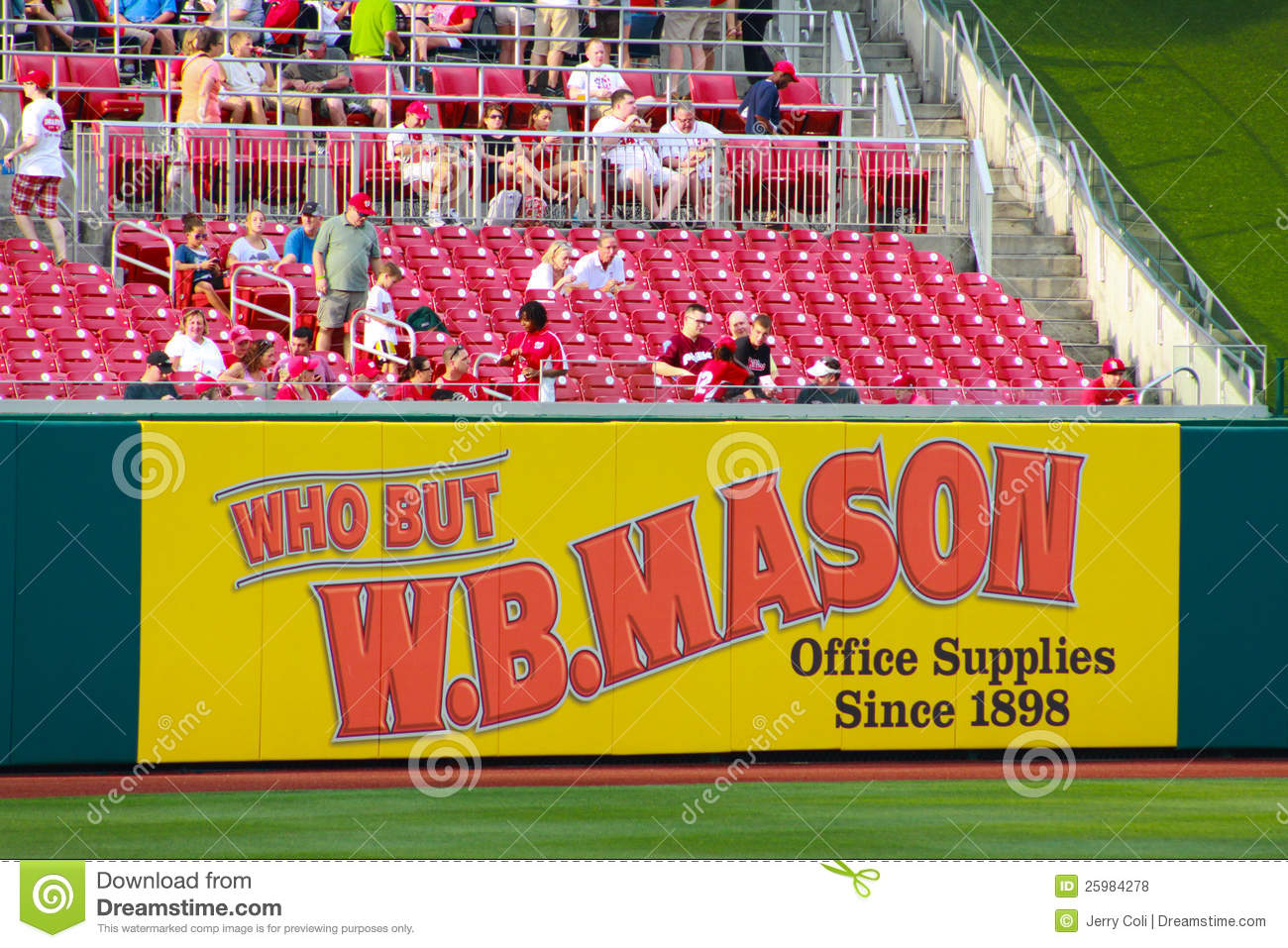 WB Mason Advertisement editorial stock photo. Image of sponsor
