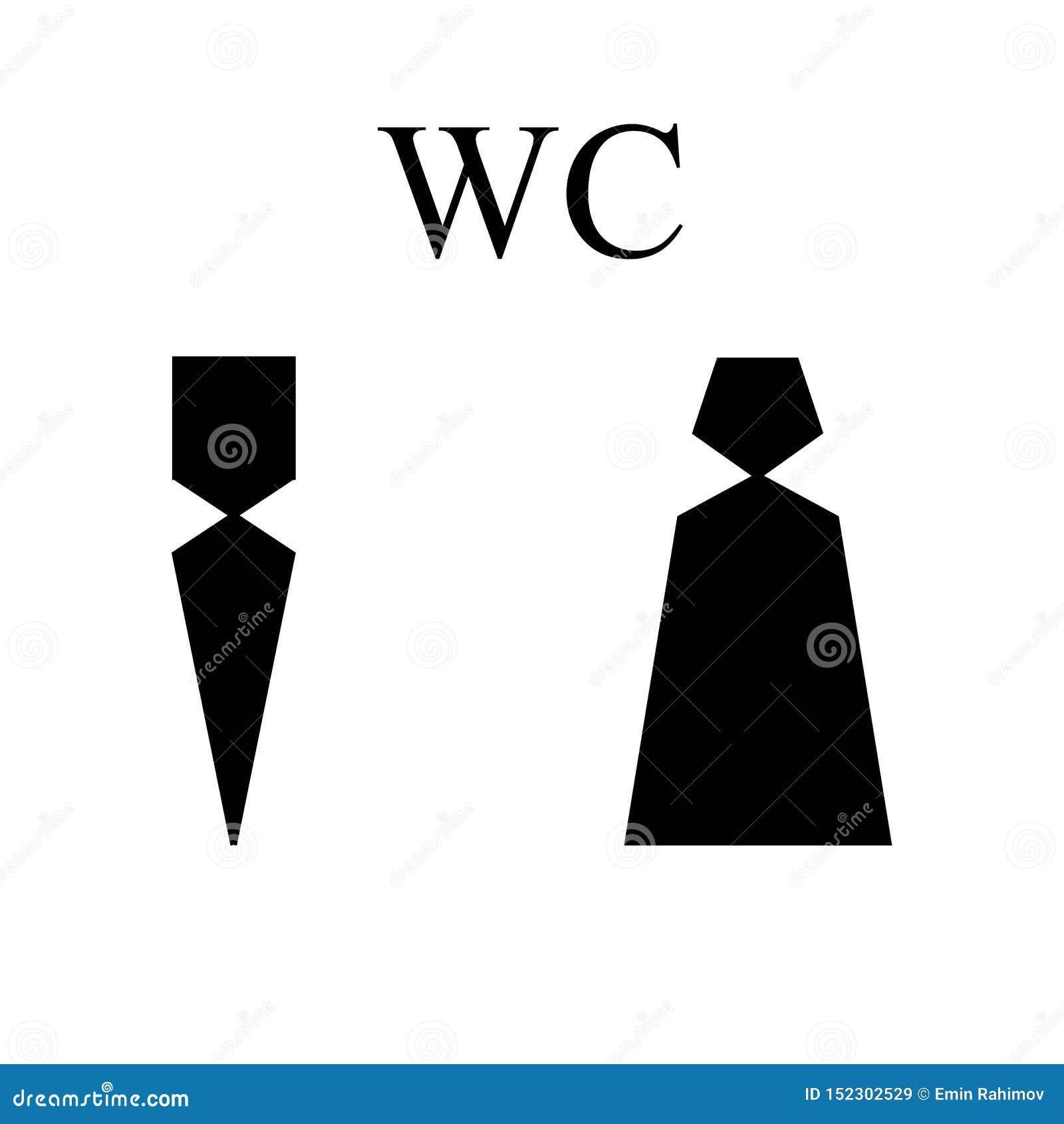 WC icon. Man and Women silhouette - eps ten
