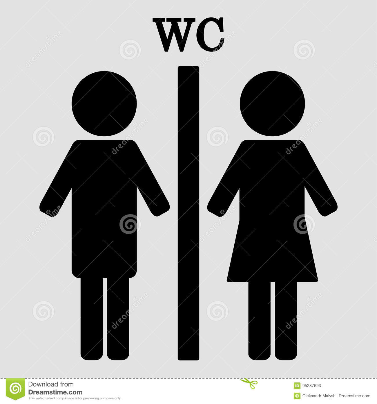 download wc sign boy and girl toilet icons stock vector illustration of gentleman - Girl Bathroom Sign