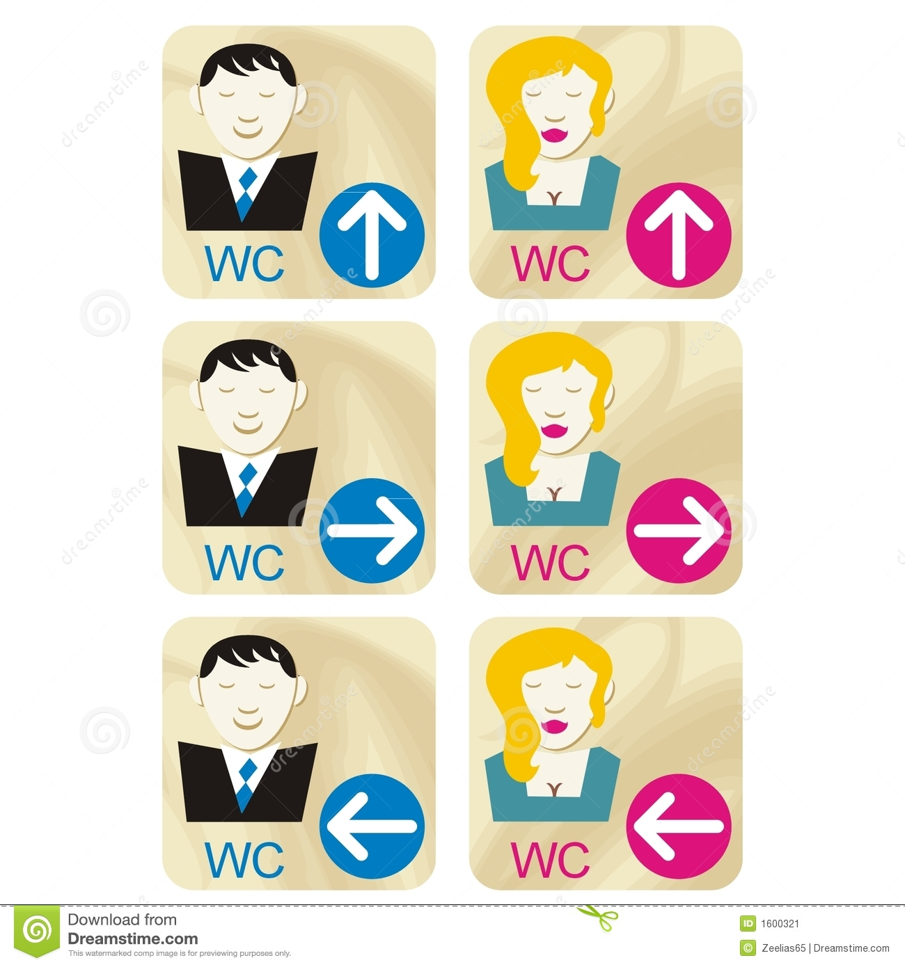 Women and men bathroom signs - Wc Signs Stock Image Image 1600321