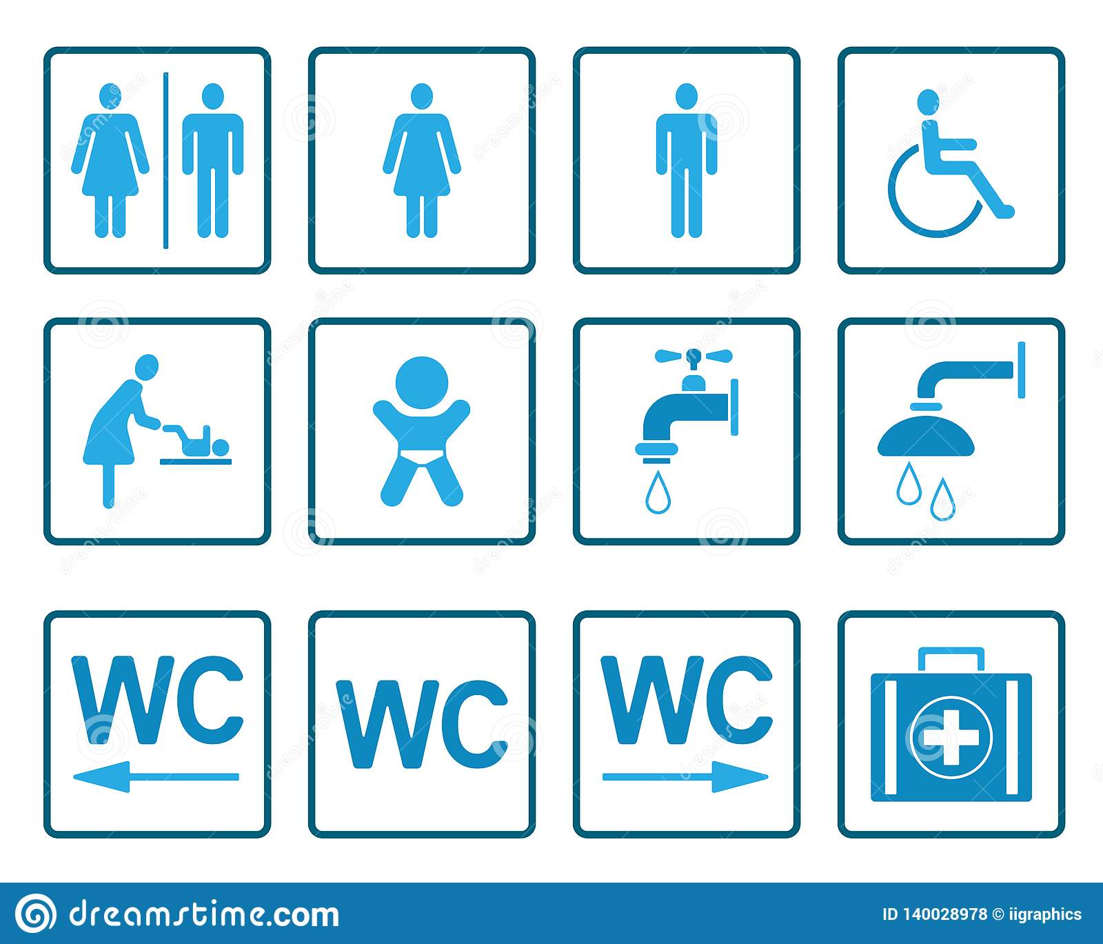WC & Toilets Pictograms - Iconset