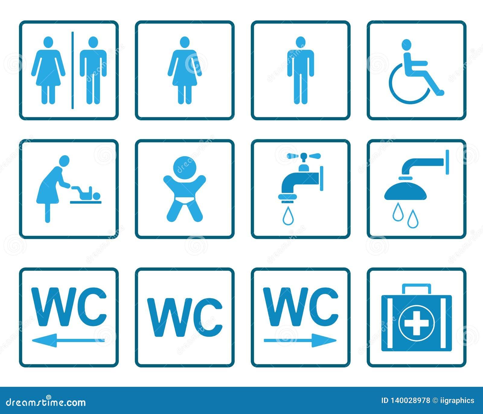 WC- u. Toiletten-Piktogramme - Iconset