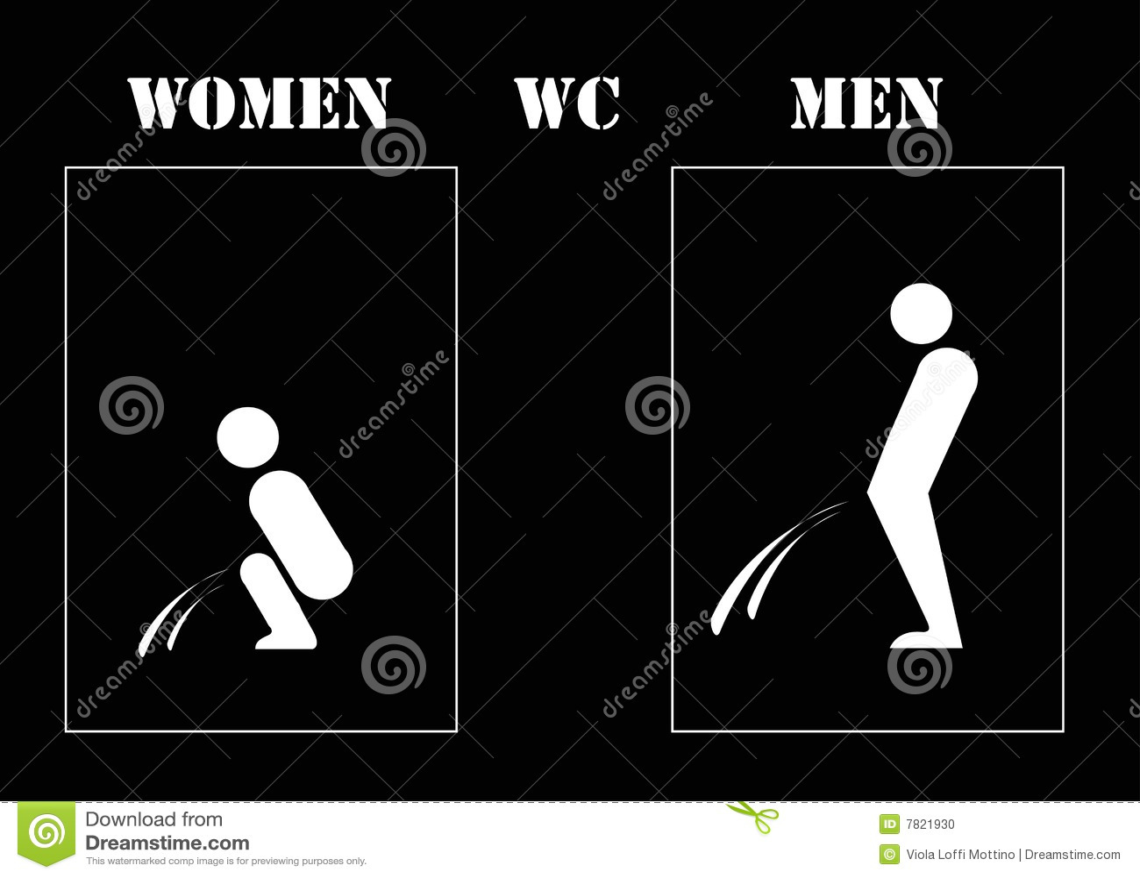 Wc van vrouwen en mannen stock foto afbeelding 7821930 for Wc immagini