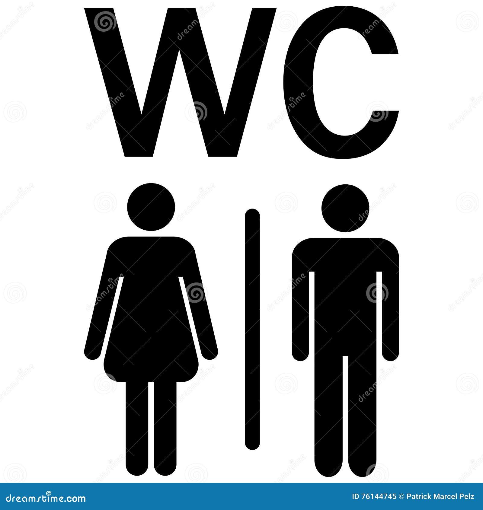 WC-Zeichen Mann-Frauen vektor abbildung. Illustration von