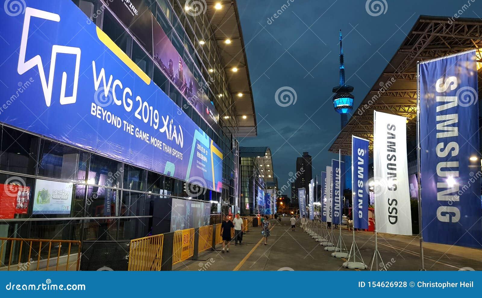 """WCG 2019 des jeux de Cyber du monde de l événement de jeu olympique de jeu d eSport le """"à Xi an, Chine"""