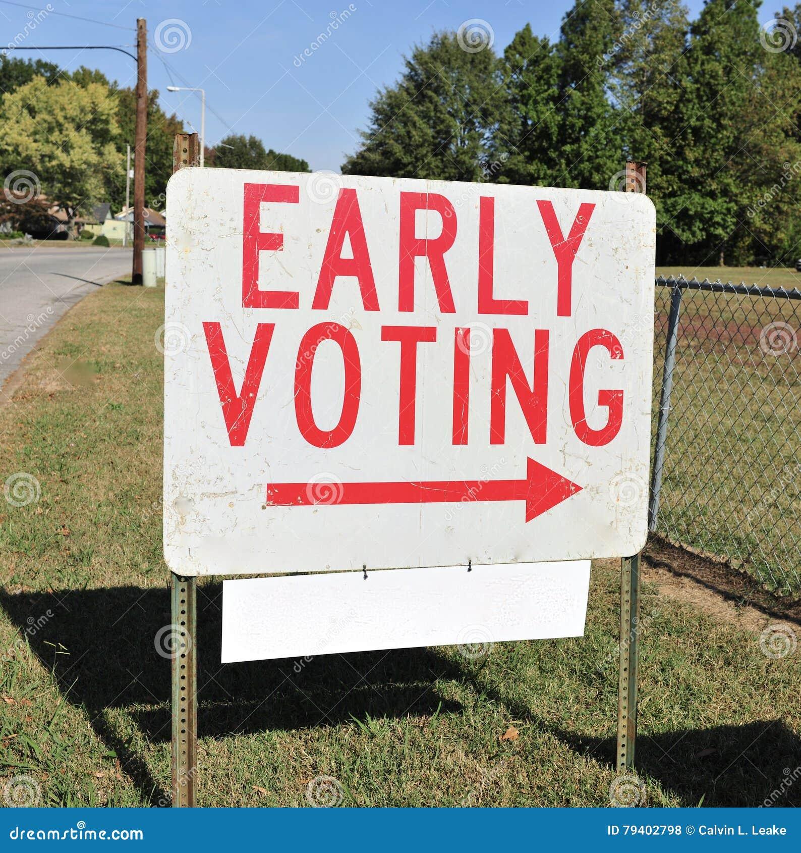 Wcześnie Głosować znaka