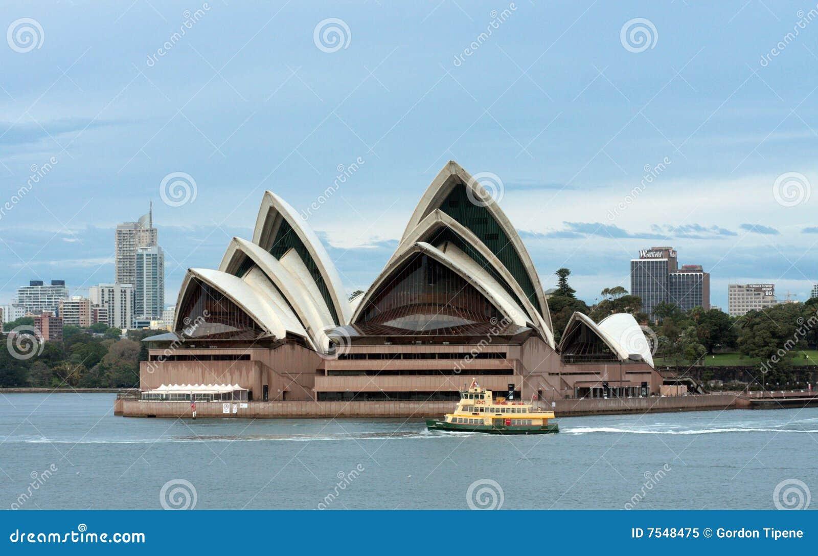 Wczesna promu domu ranek opera za Sydney