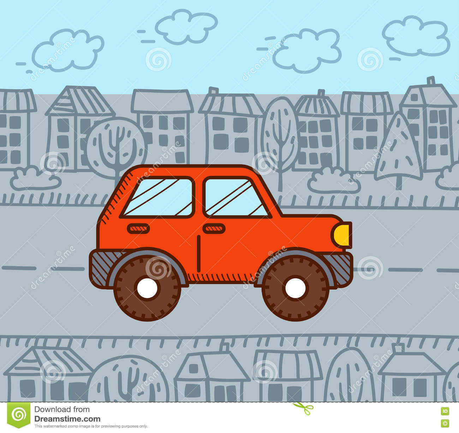 4WD汽车在城市