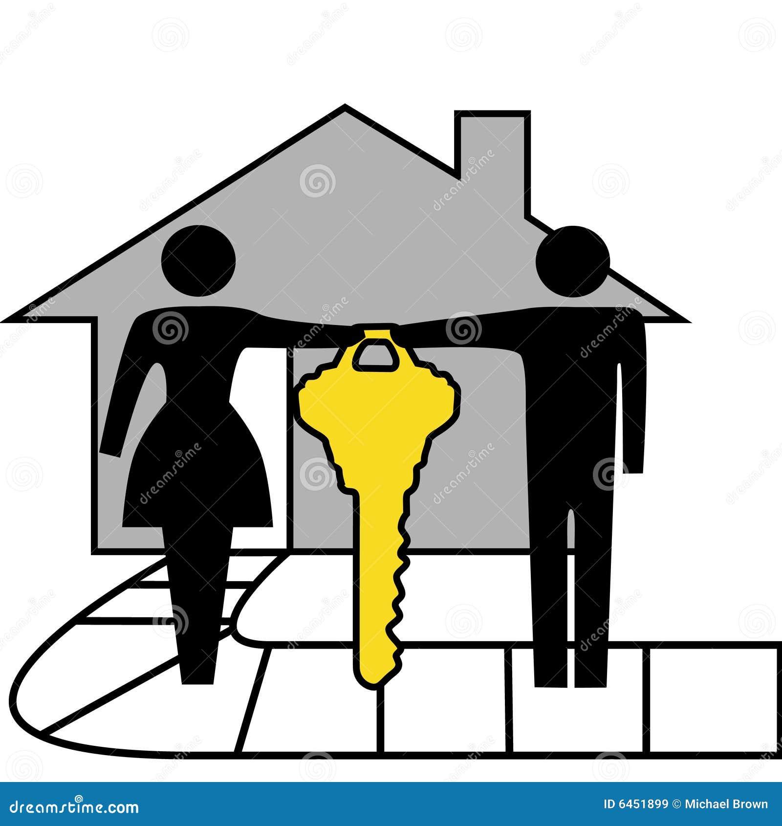 Weź parę domu domu rodzina złoty klucz