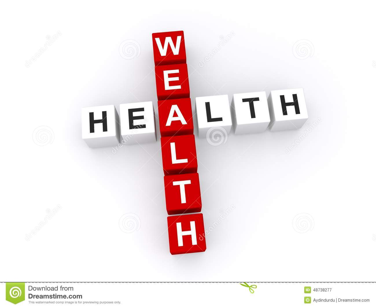 Wealth And Health Concept Stock Illustration Image 48738277