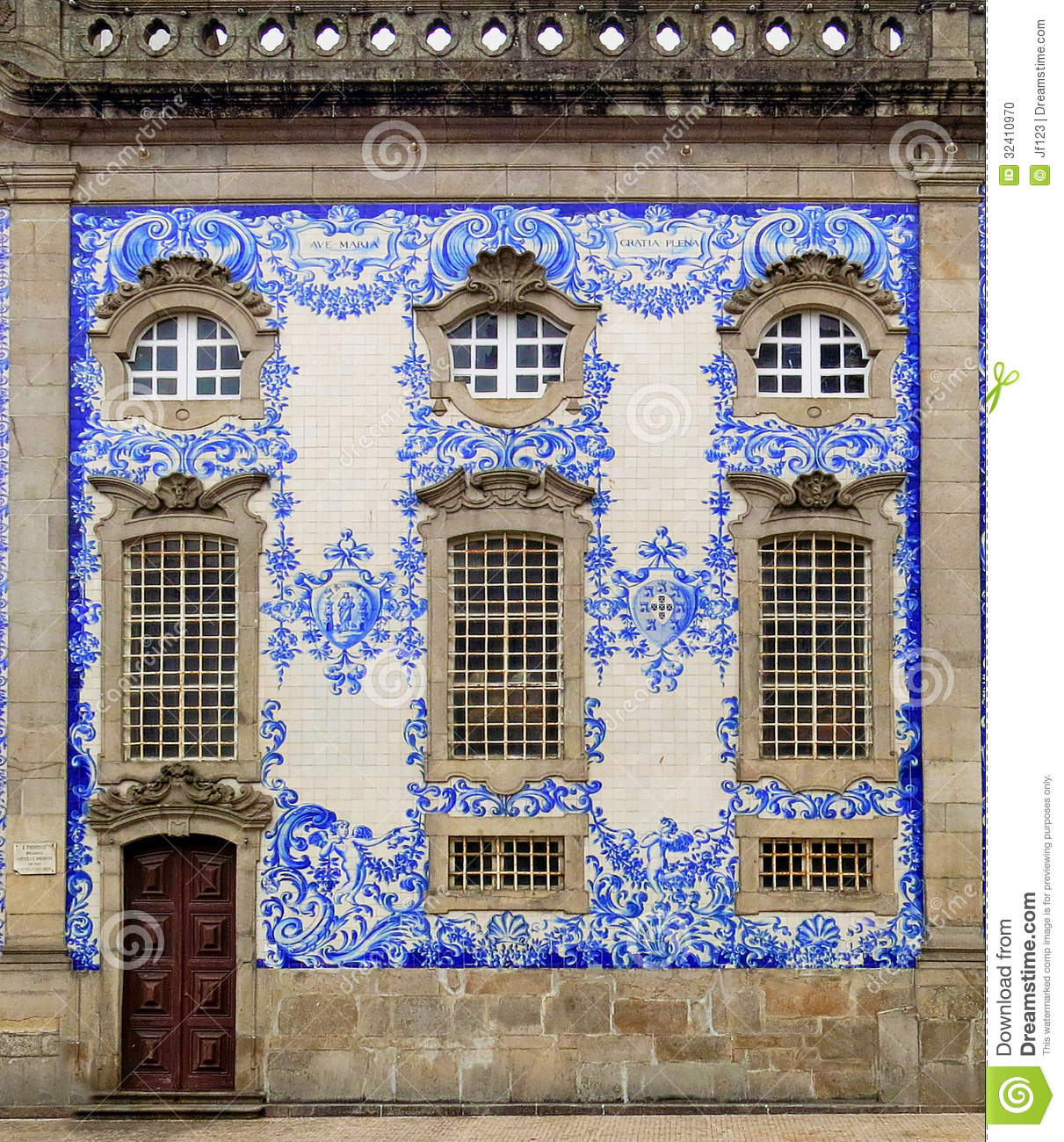 Wealthy House Facade In Porto Portugal Stock Photo