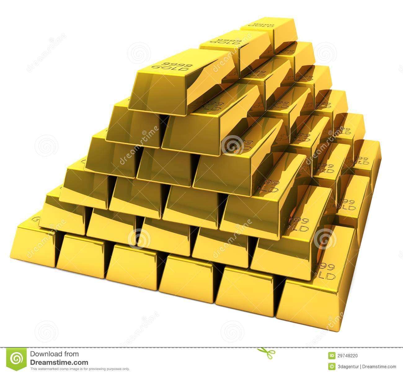 Bunch Of Gold Bars Stock Photo Image 29748220