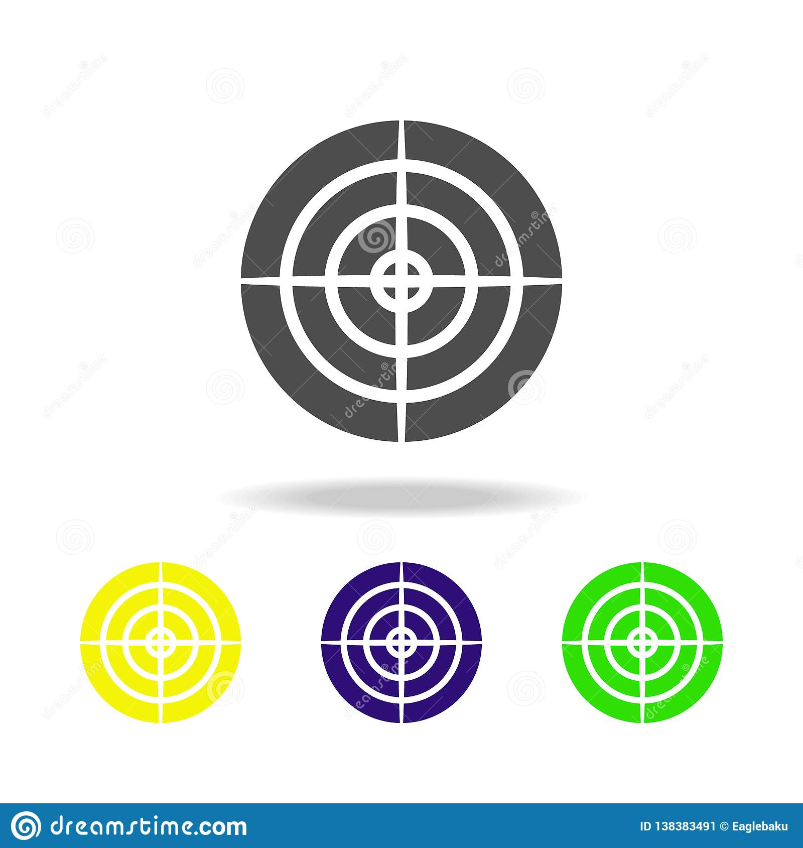 Weapon, Aim Colored Icons  Element Of Military Illustration
