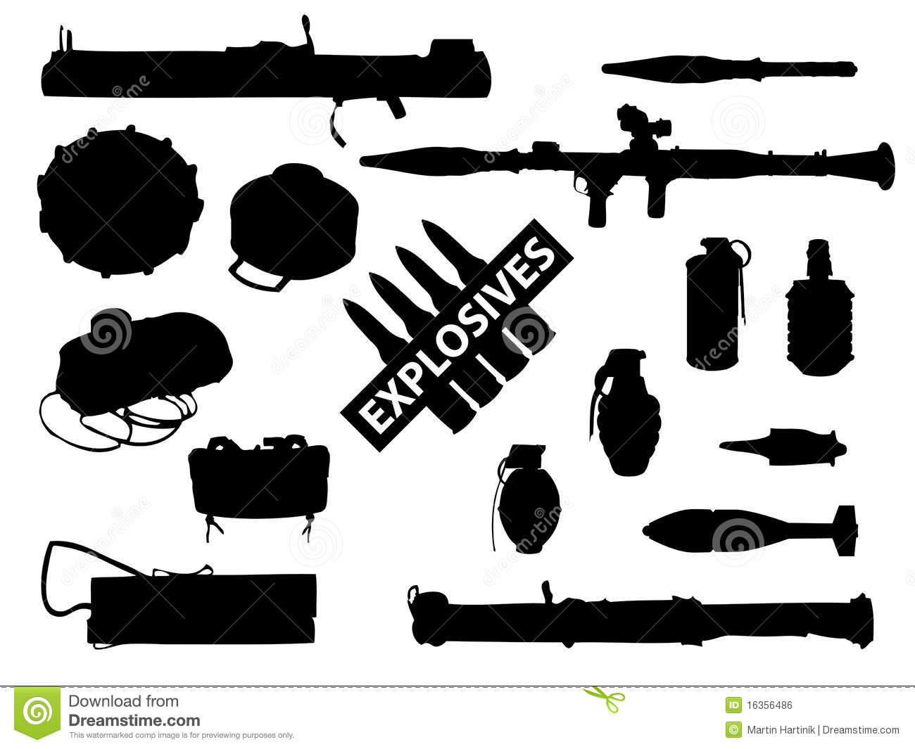 weapon collection  explosives royalty free stock image Grenade Silhouette Grenade Silhouette