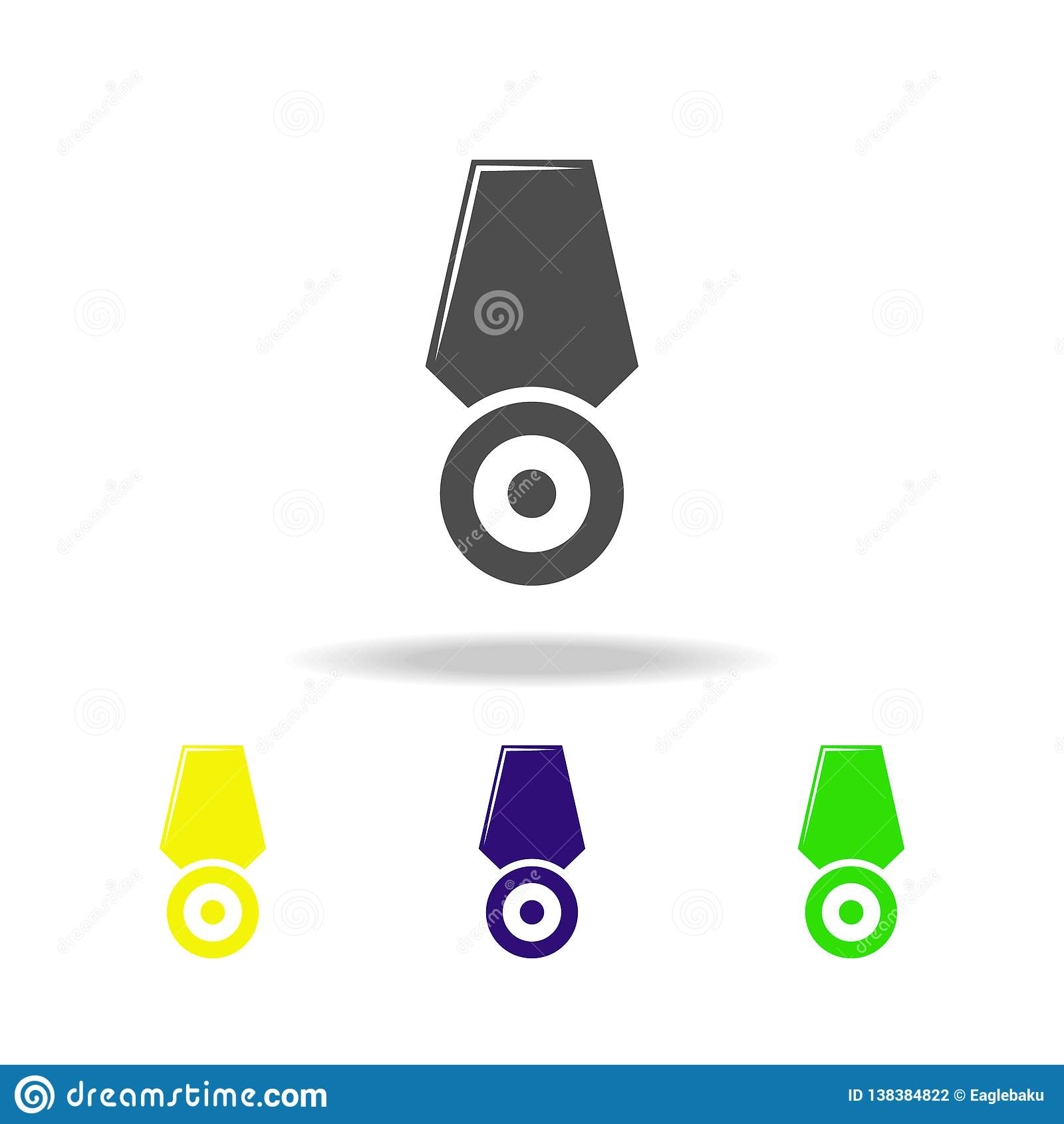 Weapon, Medal Colored Icons  Element Of Military