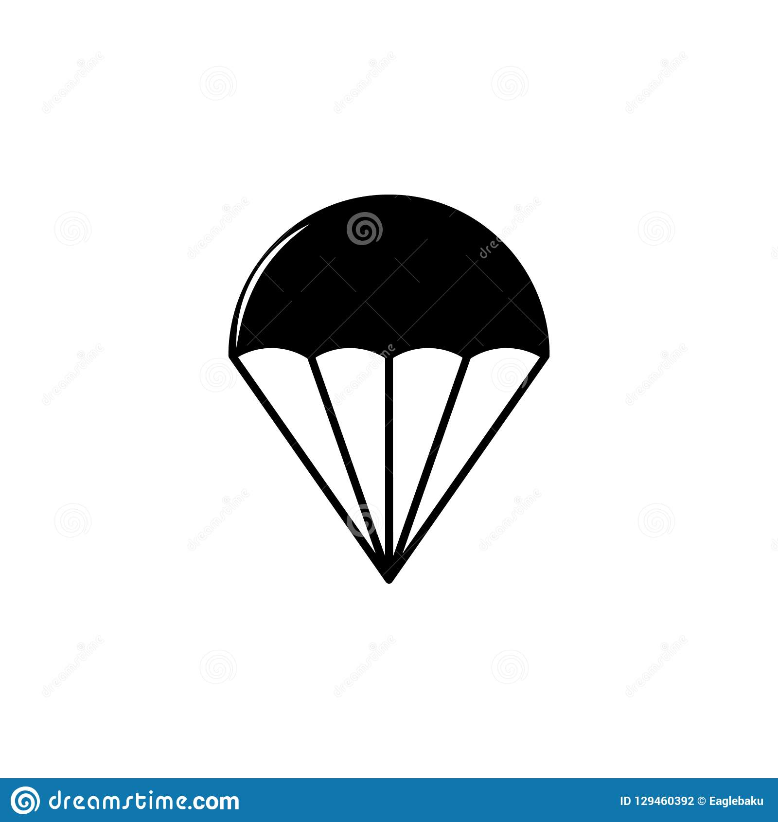 Weapon, Parachute Icon  Element Of Military Illustration