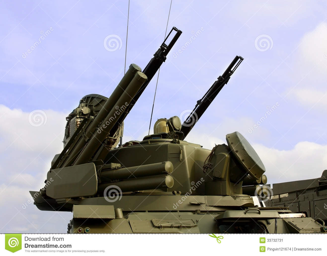 Weapons Of Anti-aircraft Defense Stock Image - Image: 33732731
