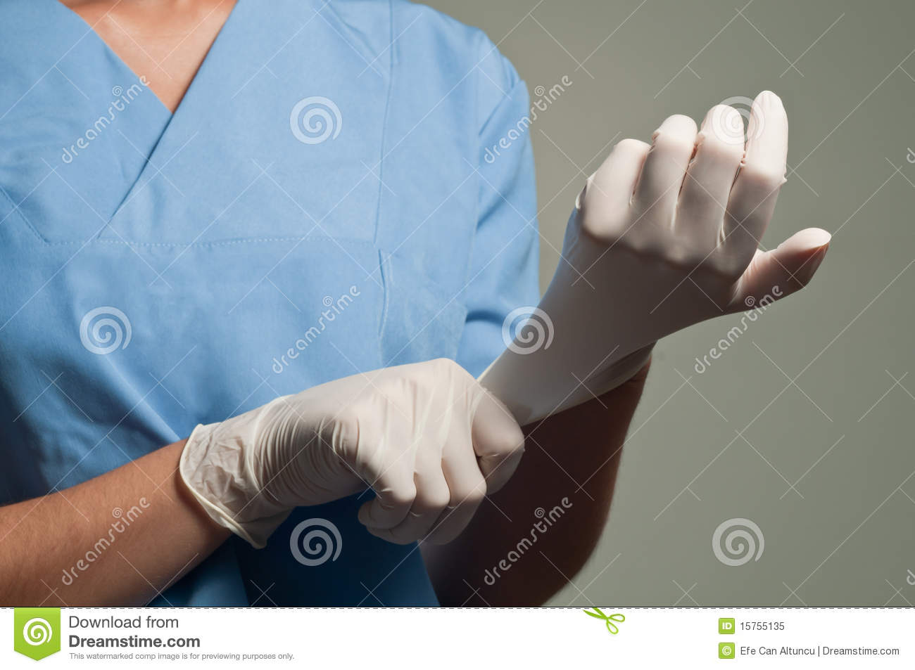 Wearing Medical Gloves