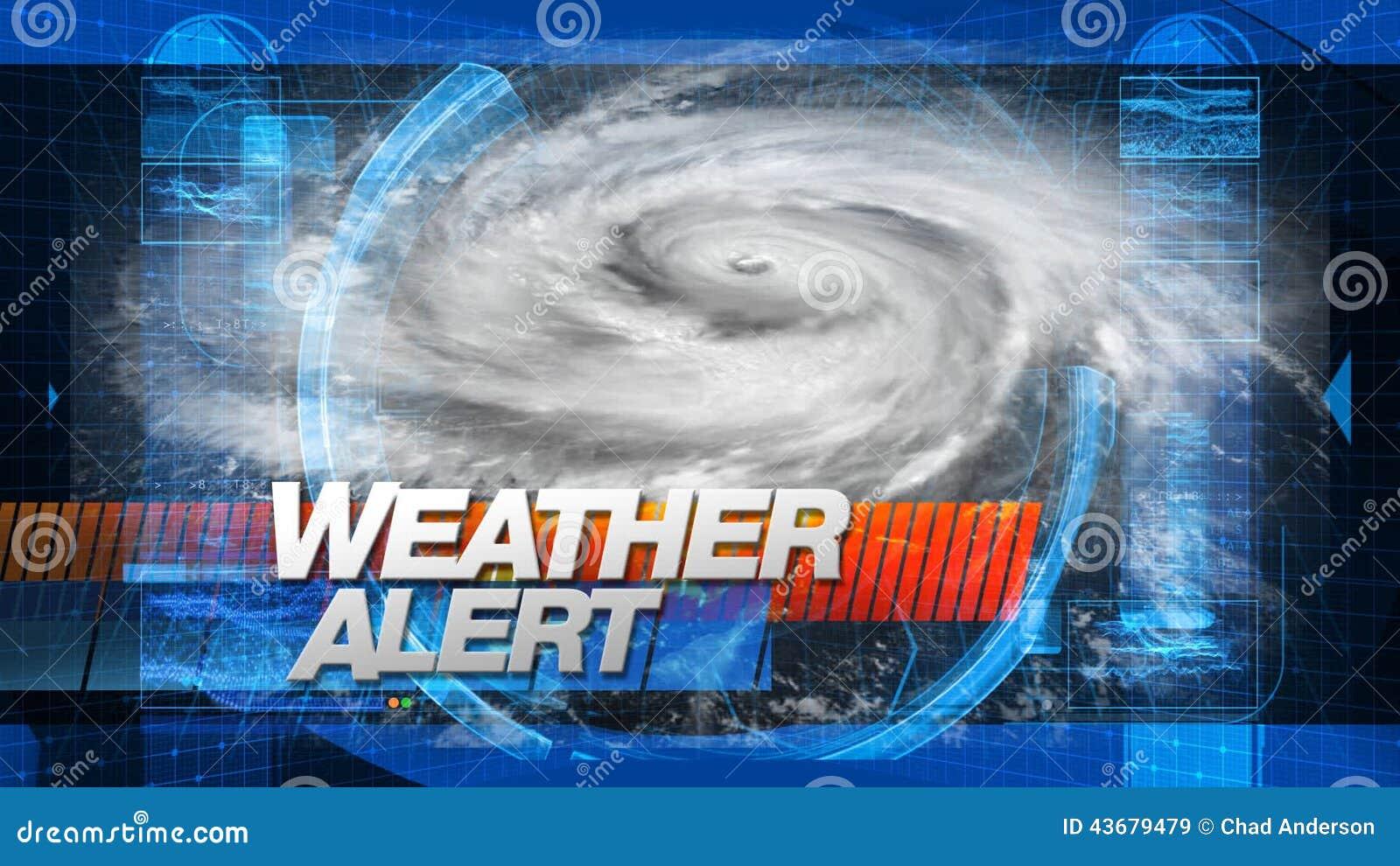 Weather Alert - Broadcast Graphics Title