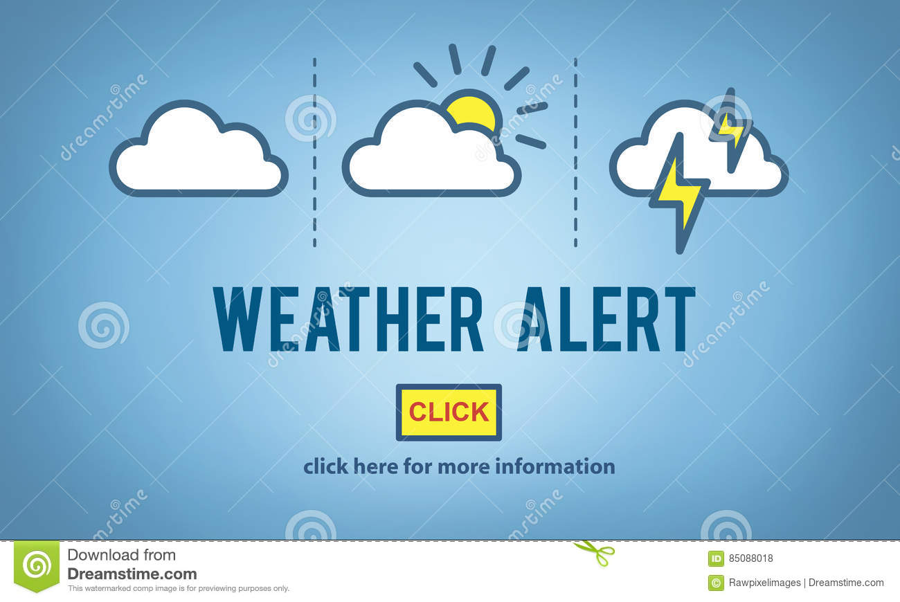Weather Alert Prediction Forecast News Information Concept